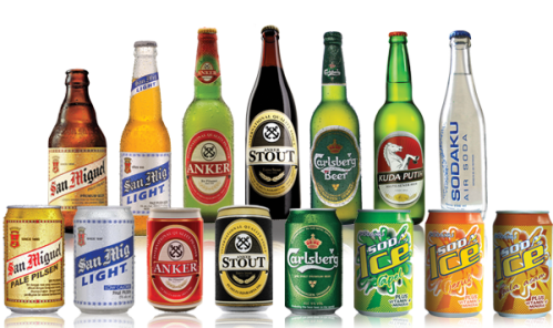 commercial drink products in Indonesia from PT Delta Djakarta