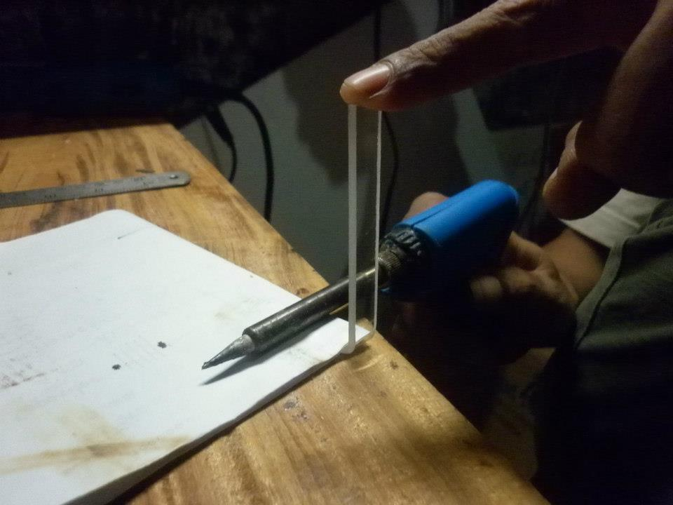 DIY microscope stage kit -Indonesia clone - acrylic bending