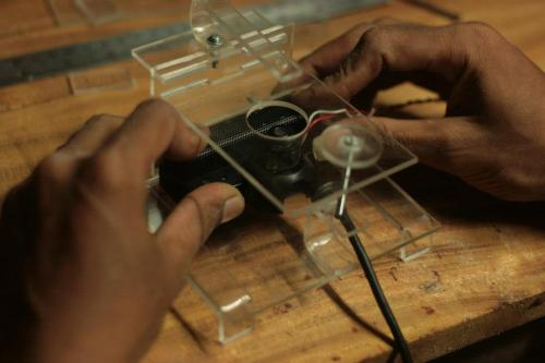 DIY microscope stage kit -Indonesia clone - PS3eye on the stage