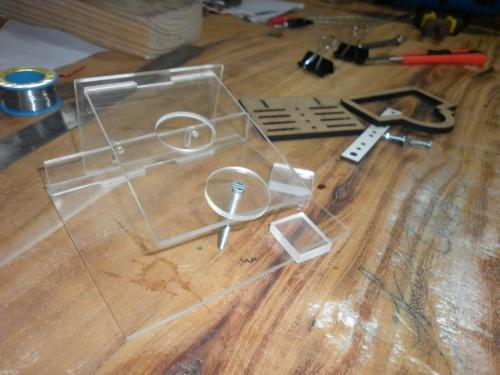 DIY microscope stage kit -Indonesia clone - The real one and the clone