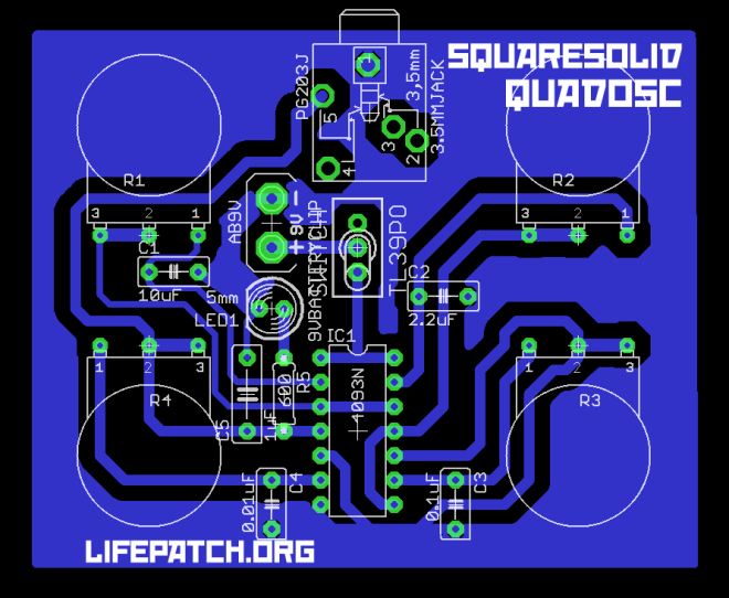 quad oscillator 4093 board layout