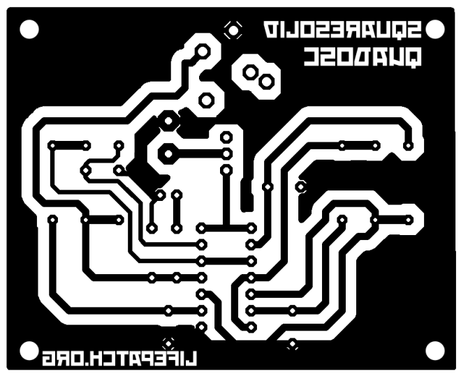 quad oscillator 4093 PCB print