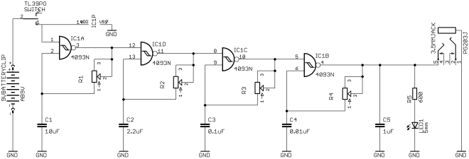 Quad Oscillator using 4093 [tutorial]