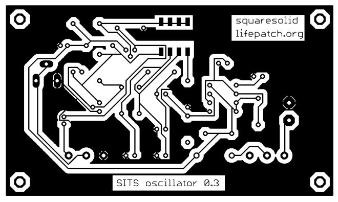 SITS oscillator 0.3 PCB print