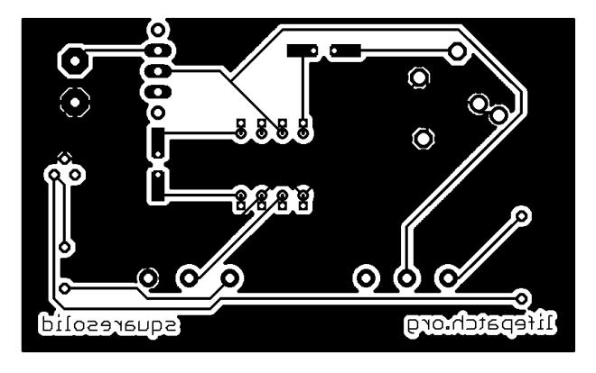 White Noise Oscillator LM386 PCB print