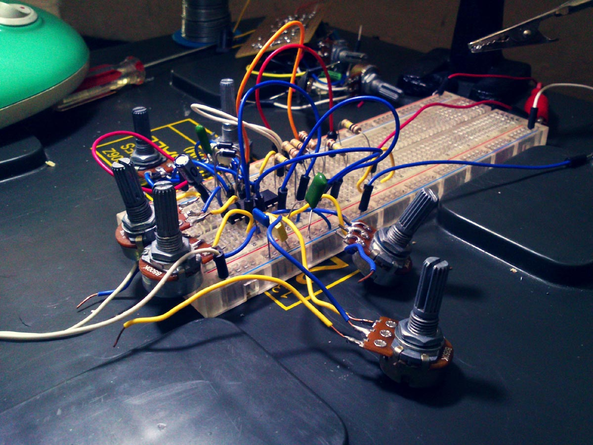Hex Oscillator Using 40106 Tutorial Andreas Siagian Electronic Projects Square Wave Schmitt Inverter