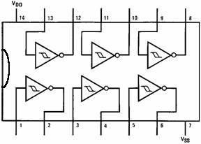 40106 pinout diagram