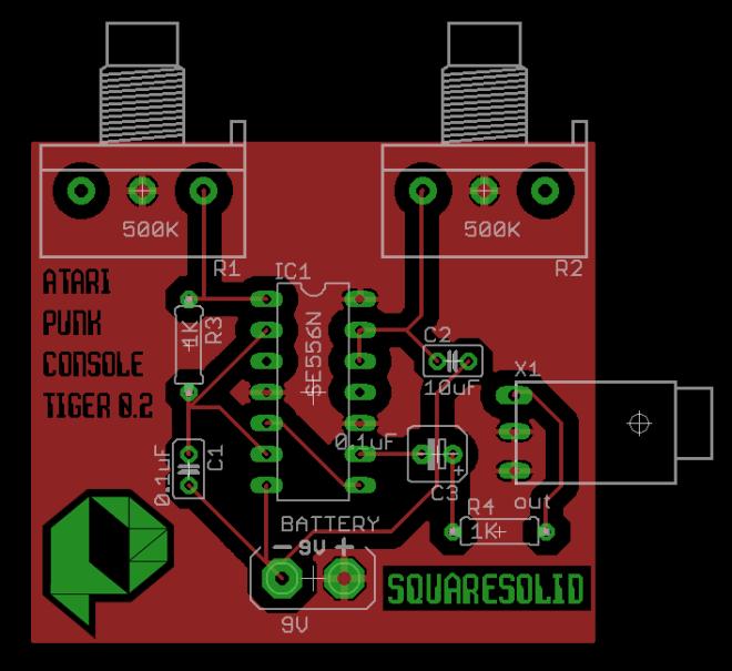 atari punk console pcb layout