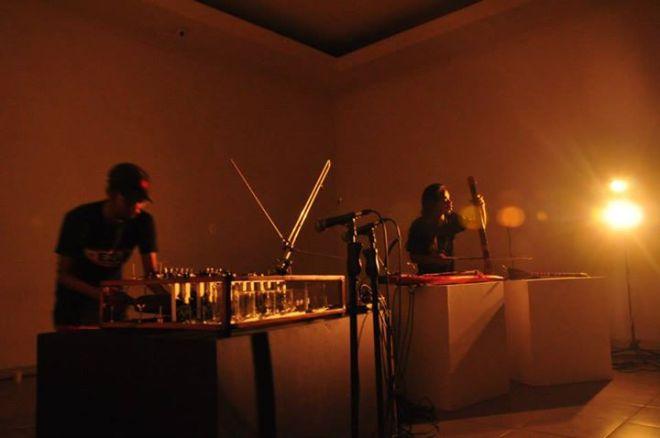 Andreas Siagian and Wukir Suryadi performing in OK Video Festival 2014