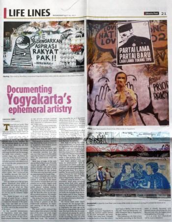 Jakarta Post - Documenting Yogyakarta's ephemeral artistry
