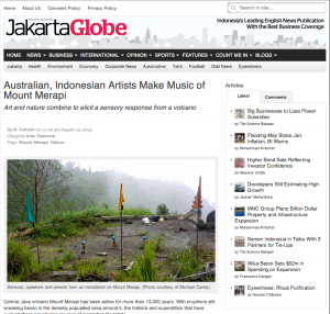 Jakarta Globe - Australian, Indonesian Artists Make Music of Mount Merapi by Ili Tulloch