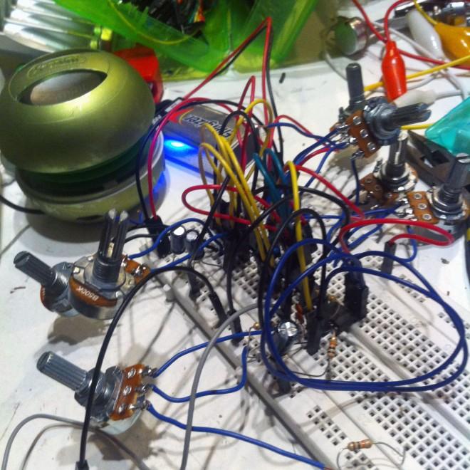 8-bit Woodtape Analog Circuit Prototype