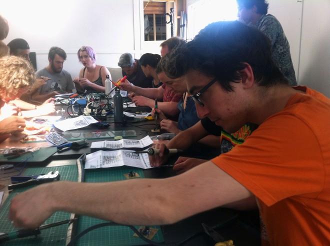 IBP Squaresynth - DIY Electronic Workshop Medialab Melbourne 06 web