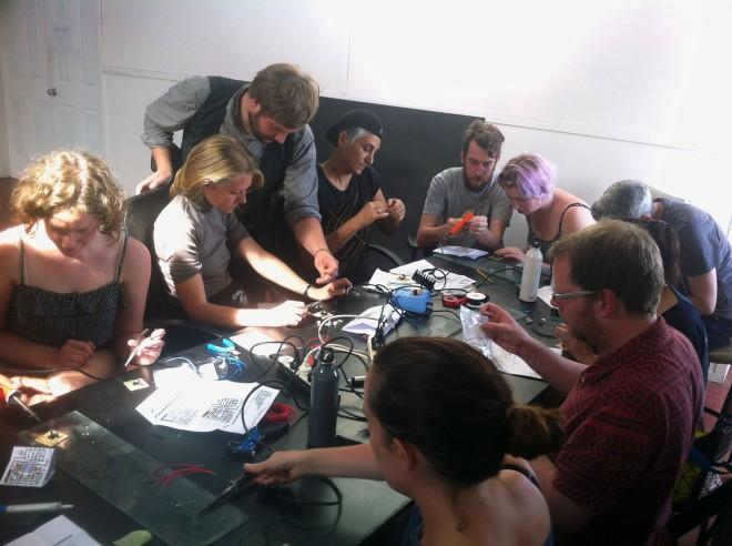 IBP Squaresynth - DIY Electronic Workshop Medialab Melbourne 08 web