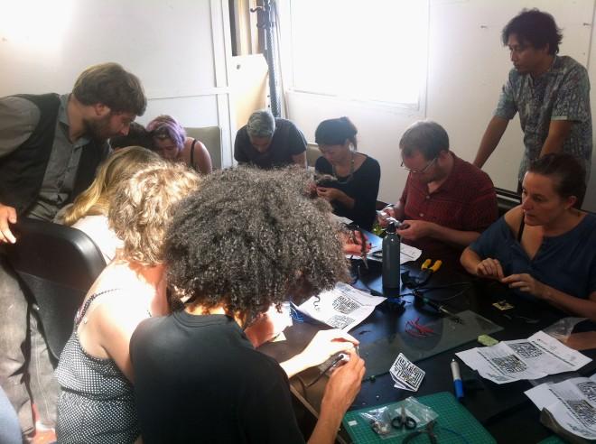 IBP Squaresynth - DIY Electronic Workshop Medialab Melbourne 09 web