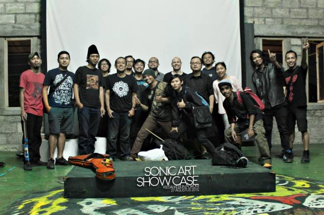 Sonic Art Showcase players and organizers