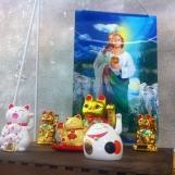 Conveniencely Yours - Maneki Neko and Jesus